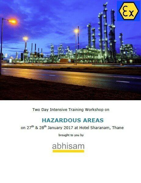 Abhisam Hazardous Area Training Workshop Jan 2017