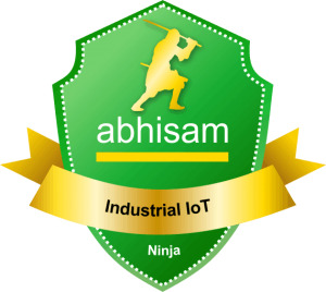 Abhisam IIoT Ninja badge