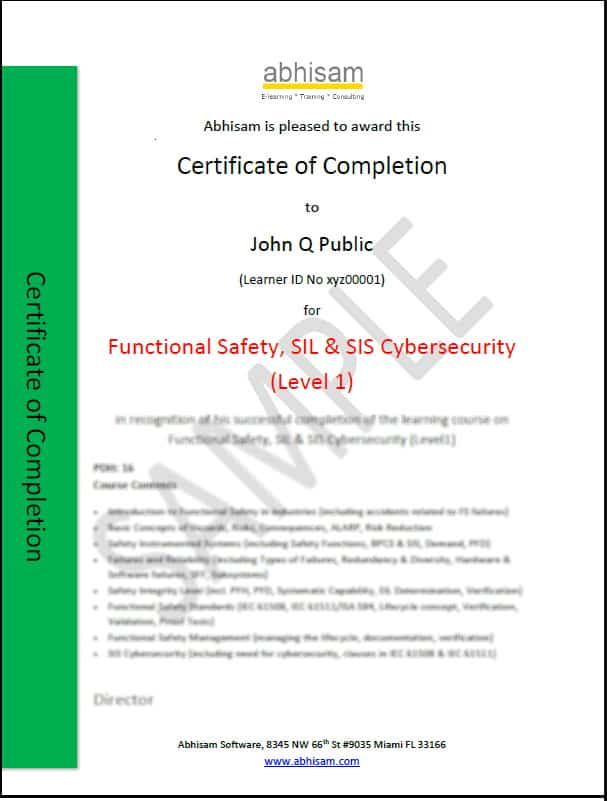 Abhisam-Functional-Safety-SIL-Course-Certificate-Level-1