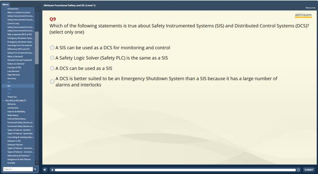 Safety Instrumented Systems Question