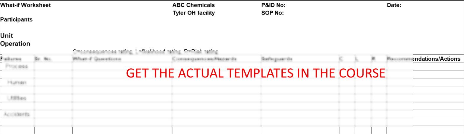 What-If Analysis Worksheet Blank Template