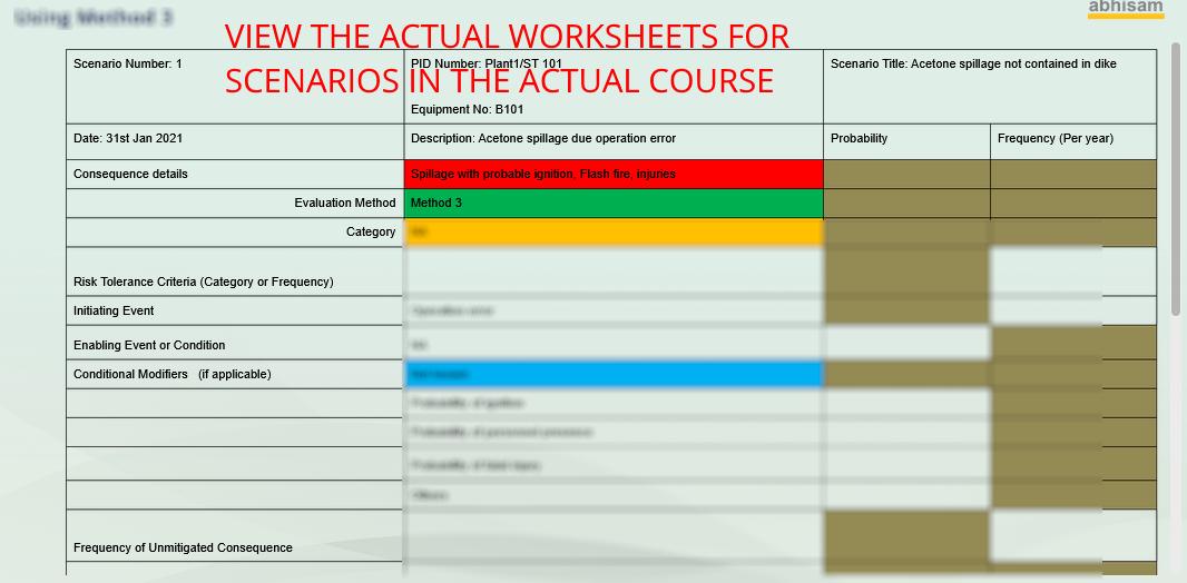 LOPA Worksheet